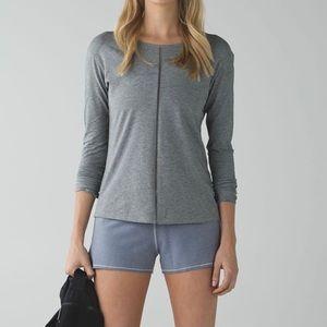 Lululemon Superb Long Sleeve Top Grey Vitasea